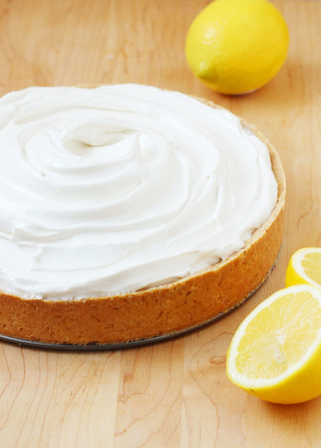 How to Make a Perfect Lemon Meringue Pie: This Lemon Meringue Pie recipe will create a truly memorable dessert: the easy, cookie-like hazelnut crust combined with the zesty filling and creamy Italian meringue will delight all fans of this classic dessert. Helpful tips and how-to video included! // FoodNouveau.com