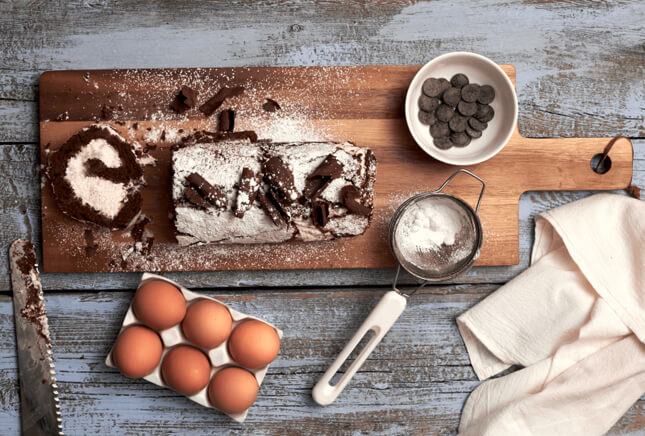 Chocolate Roulade, A Lesson in Baking with Chocolate by The Messy Baker // FoodNouveau.com