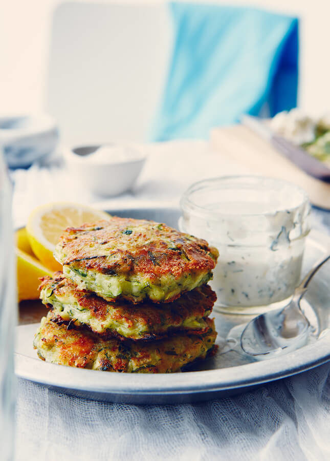 Zucchini Fritters, by The Messy Baker // FoodNouveau.com